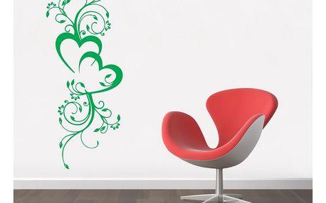 GLIX Květinová dekorace - samolepka na zeď Světle zelená 40 x 100 cm