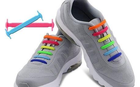 Silikonové tkaničky do bot - dva rozměry (16 kusů)