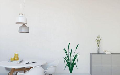 GLIX Rákos - samolepka na zeď Světle zelená 40 x 65 cm