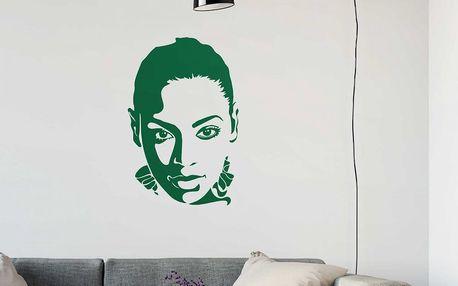 GLIX Beyoncé - samolepka na zeď Světle zelená 65 x 100 cm