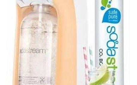 Výrobník sodové vody SodaStream Pastels JET PASTEL ORANGE oranžový + Láhev dětská SodaStream Příšerky + sirup v hodnotě 399 Kč + Doprava zdarma