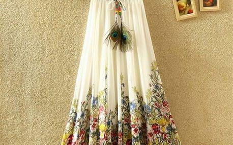 Lehká dlouhá letní sukně - varianta 13 - dodání do 2 dnů