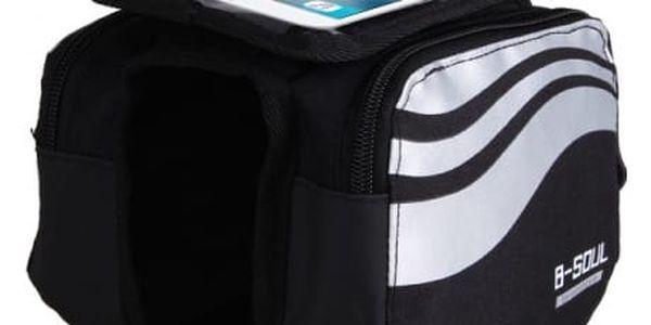 Cyklistická brašna s průzorem na telefon - stříbrná barva - dodání do 2 dnů