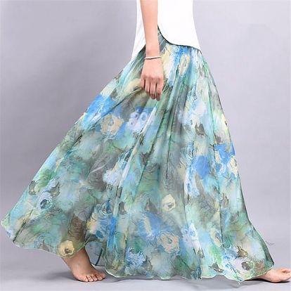 Lehoučká a vzdušná letní sukně - varianta 2, délka sukně 90 cm