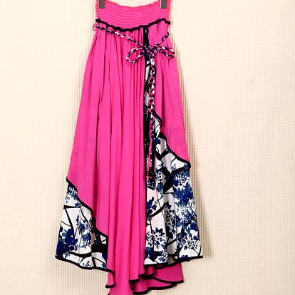 LK shop Asymetrická sukně / šaty Barva: růžová