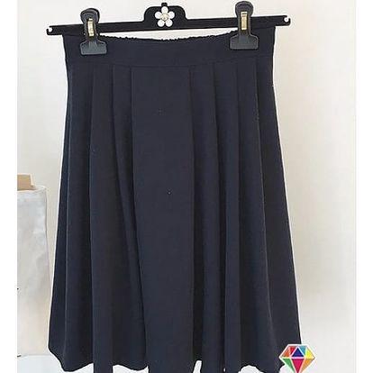 Dámská áčková sukně do pasu - černá - dodání do 2 dnů