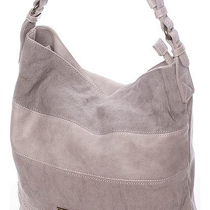 Módní dámská kabelka přes rameno šedá - David Jones Lotye šedá