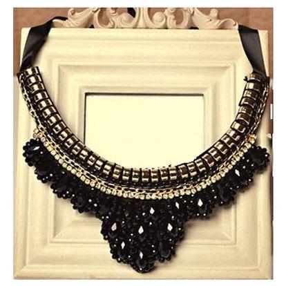 Výrazný náhrdelník s kamínky - varianta 15