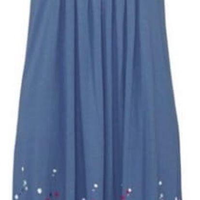 Lehké dlouhé květinové šaty pro ženy - Modrá, velikost 3