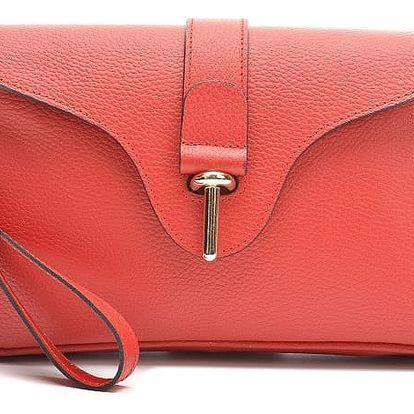 Červená kožená kabelka Anna Luchini Catarina - doprava zdarma!