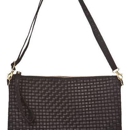 Černá kožená kabelka Markese Tryphena