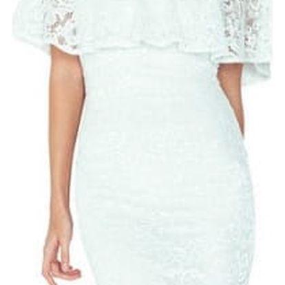 Dámské krajkové šaty s volánem Roselyn