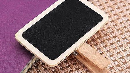 Mini černá tabulka na kolíčku