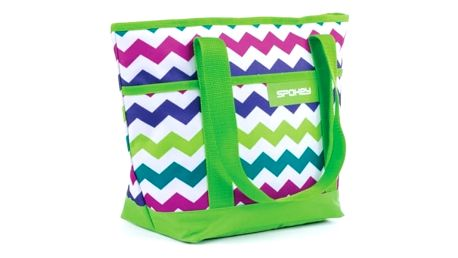 Chladící taška Spokey ACAPULCO plážová termo zelená vzor