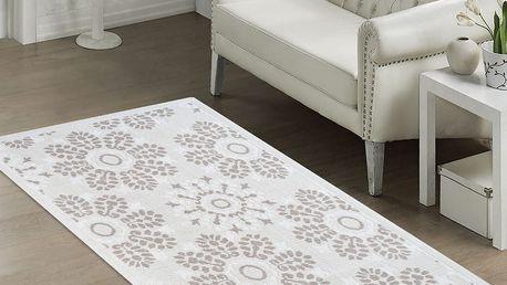 Béžový odolný koberec Vitaus Penelope, 60x90cm