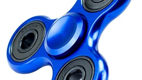 Trojcípý fidget spinner v modré barvě - dodání do 2 dnů