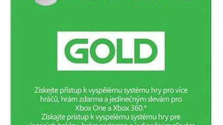 Předplacená karta Microsoft Xbox LIVE Gold - zlaté členství 3 měsíce (52K-00263)