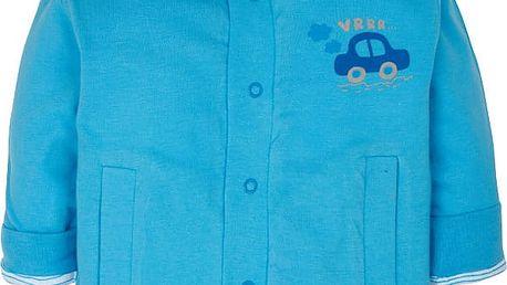 G-MINI Oboustranný kabátek Autíčka (vel. 92) - modrá