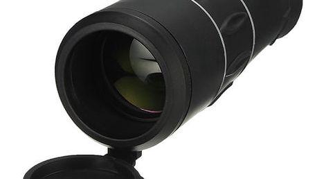 Monokulární Zoom dalekohled na táboření s kompasem - černá