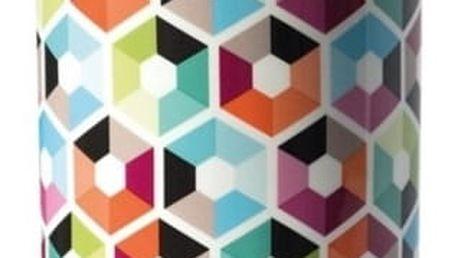 Porcelánová dóza s dřevěným víkem Remember Hexagon