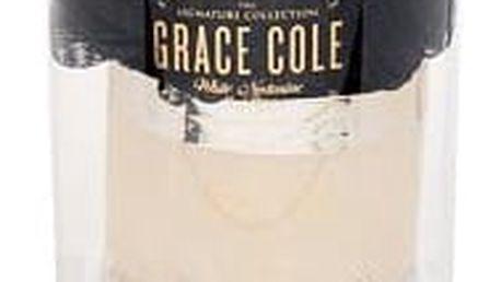 Grace Cole White Nectarine & Pear tělové máslo dárková sada W - tělové máslo Nourishing 300 ml + tělový peeling Exfoliating 300 ml + mycí houba