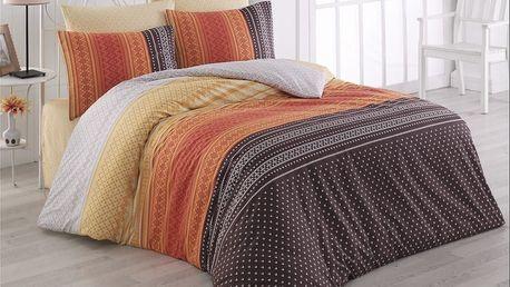 Bedtex povlečení bavlna Summer Oranžové, 140 x 220 cm, 70 x 90 cm