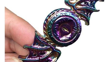 Dračí fidget spinner v duhových barvách