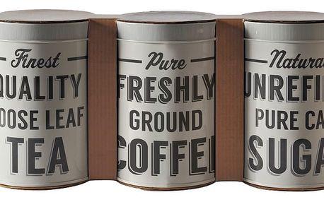 Sada 3 dóz na kávu, čaj a cukr MasonCash Mason Cash Baker Lane