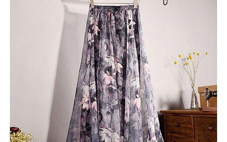 Lehoučká a vzdušná letní sukně - varianta 5, délka sukně 90 cm - dodání do 2 dnů