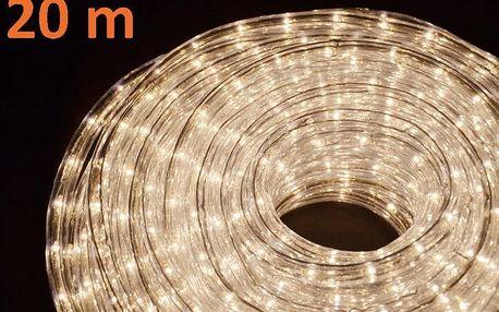 Světelný kabel 20 m - teple bílé, 720 minižárovek