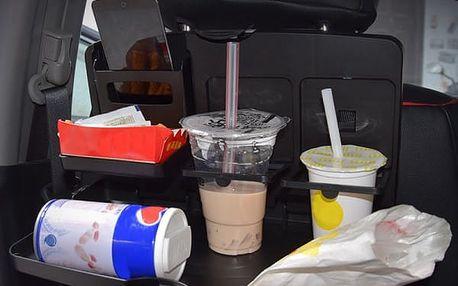 Skládací stolek do auta - černá barva