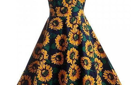 Květinové retro šaty z 50. let - varianta 13, velikost 5