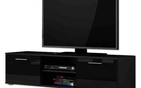 Soho - TV komoda (černý mat / černá vysoký lesk, RTV '140')