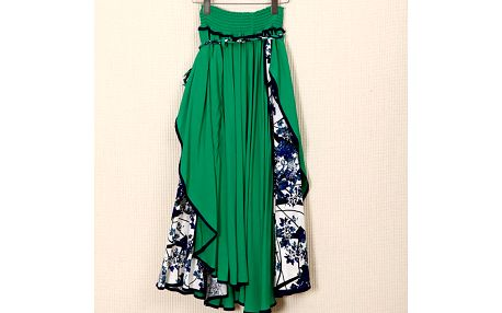 LK shop Asymetrická sukně / šaty Barva: zelená