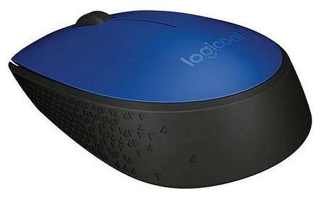 Logitech Počítačová myš Wireless Mouse M171 BLUE, modrá