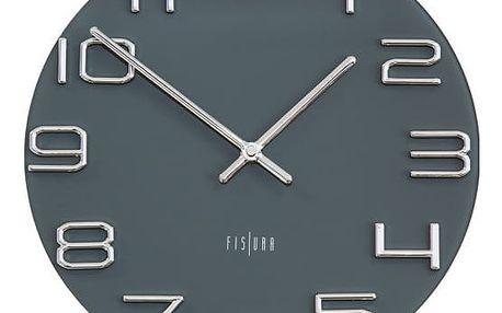 Šedé nástěnné hodiny Fisura Dial
