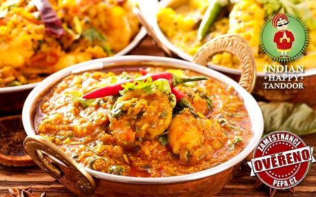 Konzumace jídla v hodnotě 800 nebo 1 200 Kč v restauraci Indian Happy Tandoor v Praze