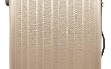 Zlatý cestovní kufr na kolečkách Bluestar,75l - doprava zdarma!