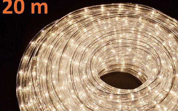 Nexos 817 Světelný kabel 20 m - teple bílé, 720 minižárovek