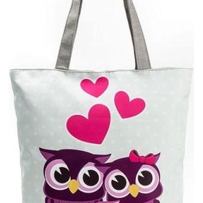 Dámská taška s motivem barevných sov