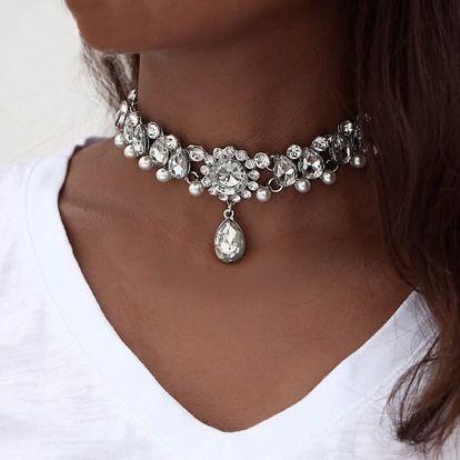 Princeznovský choker náhrdelník - 2 barvy