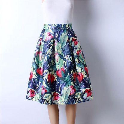 Skládaná delší sukně - varianta 15