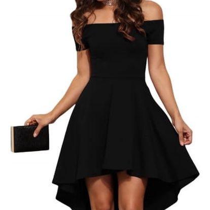 Elegantní jednobarevné šaty - černá, velikost č. 4