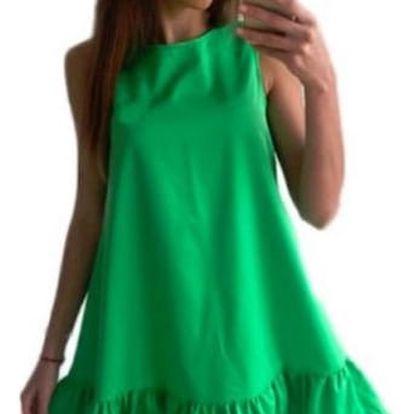 Jednobarevné šaty ve volném střihu - 6 barev