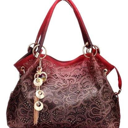 Dámská kabelka s originálním zdobením - 4 barvy