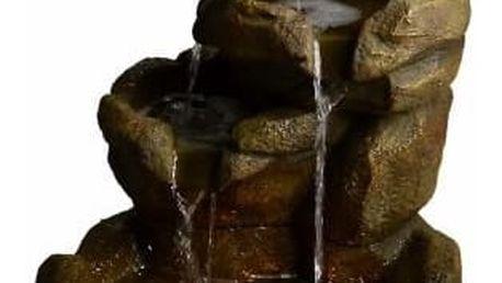 Zahradní fontána kašna - Kamenný vodopád s osvětlením