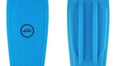 Penny board Nils Extreme Extreme modrý + Reflexní sada 2 SportTeam (pásek, přívěsek, samolepky) - zelené v hodnotě 58 Kč