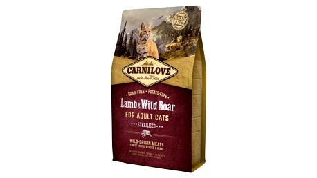 Granule Brit Carnilove Cat Lamb & Wild Boar Adult Sterilised 6 kg