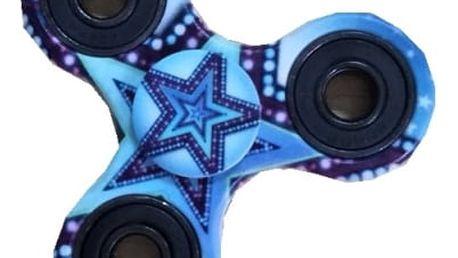 Modrý fidget spinner s hvězdičkou