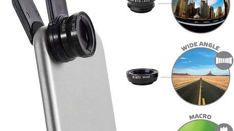 CELLY Clip and Click přídavné čočky na telefon - CLIPANDCLICK